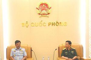Lãnh đạo Bộ Quốc phòng, Bộ Tổng tham mưu và Tổng cục Chính trị tiếp khách