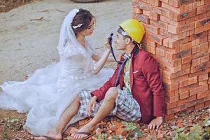 Bộ ảnh cưới 'vợ chồng thợ xây' của cặp đôi Hà Tĩnh