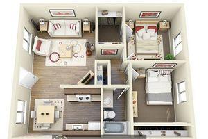 10 mẫu thiết kế căn hộ 2 phòng ngủ đầy mê hoặc
