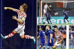 Play off World Cup 2018: Croatia, Thụy Sĩ lợi thế lớn