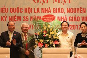 Thủ tướng, Chủ tịch Quốc hội gặp mặt các Đại biểu Quốc hội là nhà giáo, nguyên là nhà giáo