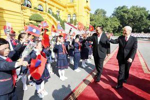 Tổng Bí thư Nguyễn Phú Trọng hội đàm với Tổng Bí thư, Chủ tịch nước Lào Bounnhang Vorachith