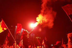 Hải Phòng: Pháo rực sáng ăn mừng kỳ tích của tuyển U23 Việt Nam