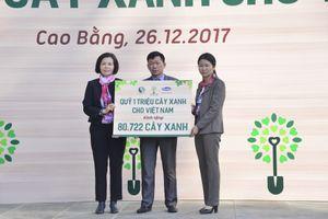 Vinamilk trồng 80.722 cây xanh tại Cao Bằng trong chương trình 'Quỹ 1 triệu cây xanh cho Việt Nam'