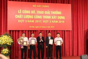 Công ty Trung Nam đạt 2 giải thưởng công trình chất lượng cao của Bộ Xây dựng