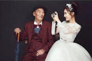 Câu chuyện cảm động sau bộ ảnh cưới của cháu gái và ông nội