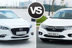Mazda3 1.5 và Honda City 1.5 TOP: Lựa chọn khó khăn