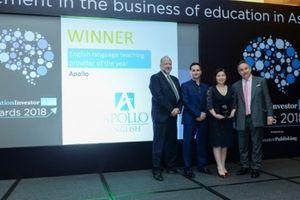 Apollo English nhận giải hệ thống đào tạo Anh ngữ của năm