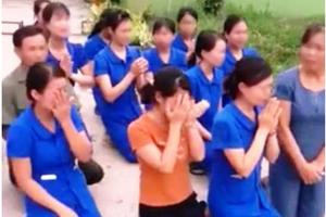 Vụ nhiều cô giáo quỳ gối, khóc: Xây trường trên đất chưa giao