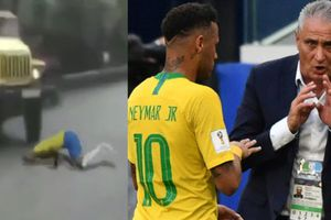 Xem clip chế Neymar ăn vạ xuyên lục địa gây tai nạn khủng khiếp, HLV Tite lên tiếng