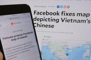 Báo chí quốc tế lên tiếng về bản đồ sai chủ quyền Việt Nam của Facebook