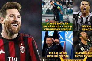 Buffon khóc vì Ronaldo về Juventus, Messi đòi sang AC Milan