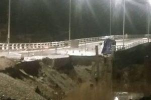 Hải Phòng: Sạt đường dẫn Cầu Đăng, cấm xe tải, xe khách 30 ngày