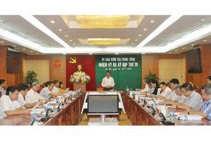 Thông cáo báo chí Kỳ họp 28 của Ủy ban Kiểm tra Trung ương