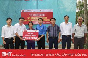 Khởi công xây dựng nhà tình nghĩa cho hộ nghèo ở thị trấn Xuân An