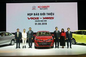 Toyota Việt Nam đưa ra thị trường mẫu xe Vios và Yaris mới 2018