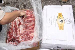 Hải quan bán đấu giá 168 tấn thịt trâu để tái xuất đúng theo quy định