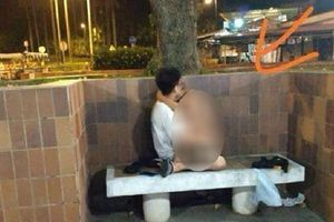 Cặp đôi 'mây mưa' ở ghế đá giữa đường còn chỉ tay thách thức người chụp ảnh khiến dân mạng dây sóng