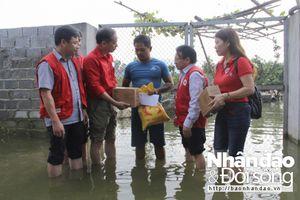 Hội Chữ thập đỏ Việt Nam hỗ trợ người dân Chương Mỹ bị ngập lụt