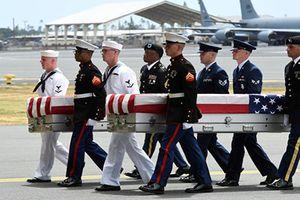 Xúc động hài cốt lính Mỹ được Triều Tiên trả đã hồi hương