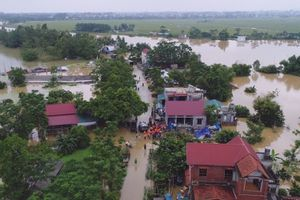 Hà Nội: Mực nước 4 hồ thủy lợi lớn vượt ngưỡng, ngập úng vẫn diễn ra tại nhiều nơi