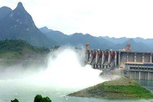 14h chiều nay (4/8), mở 1 cửa xả đáy hồ Tuyên Quang