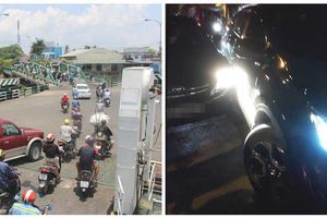 Giải quyết vụ xô xát, cảnh sát khu vực bị tài xế cố tình lùi xe cán gãy chân