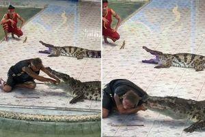 Đưa tay vào miệng cá sấu, người đàn ông gặp kết kinh hoàng