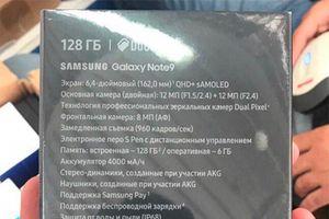 Galaxy Note9 lộ toàn bộ cấu hình qua ảnh hộp đựng