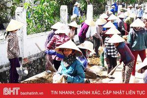 Hồng Lộc dồn sức về đích nông thôn mới
