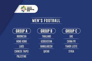 Bốc thăm lần 3 bóng đá nam ASIAD: UAE thế chỗ Iraq