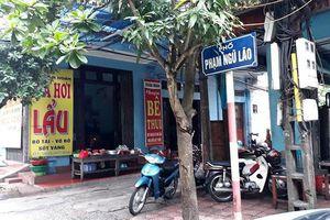 Tạm giữ đối tượng tạt a xít chủ quán nhậu ở Thái Bình