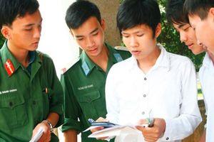 Điểm chuẩn của 18 trường ĐH, CĐ khối quân sự