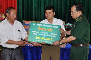 Thiếu tướng Phùng Quốc Tuấn chỉ đạo công tác khắc phục hậu quả mưa lũ tại Lai Châu