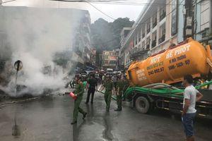 Phát hiện đám cháy ở Sapa, xe hút bể phốt tức tốc dập lửa