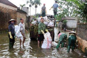 Nước rút, 1.800 hộ dân ở huyện Chương Mỹ trở về nhà