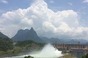 Hồ Tuyên Quang đã mở cửa xả đáy thứ 2