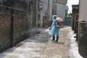 Phòng chống dịch bệnh tại vùng ngập úng huyện Quốc Oai