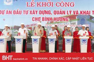 Khởi công dự án xây mới chợ Bình Hương với mức đầu tư 140 tỷ đồng