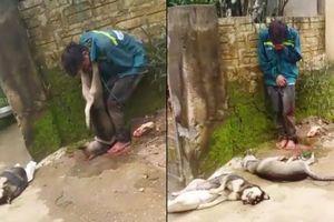 Dân vây bắt, treo xác chó lên cổ tên trộm ở Thanh Hóa