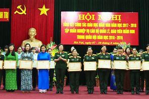 Ban Phụ nữ Quân đội tổng kết công tác giáo dục mầm non năm học 2017 - 2018
