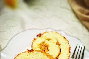 Làm bánh bông lan cuộn mặn cho bữa sáng cực ngon