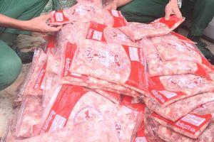 Tiêu hủy gần 350kg thịt gia cầm không rõ nguồn gốc