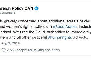 Saudi Arabia và Canada leo thang 'khủng hoảng ngoại giao'