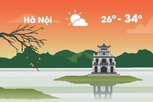 Thời tiết ngày 8/8: Hà Nội nóng 34 độ C, Sài Gòn mưa dông
