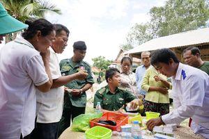 Khám bệnh, cấp thuốc miễn phí cho người nghèo nước bạn Campuchia
