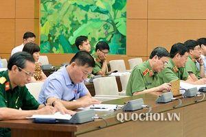 UBTVQH cho ý kiến về trần quân hàm cấp tướng đơn vị mới thuộc Bộ Quốc phòng