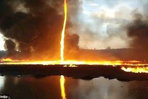 Chiêm ngưỡng vòi rồng lửa cao hơn 15m ở Anh