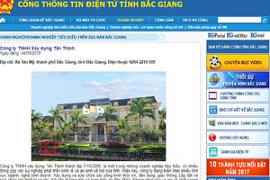 Chọn Tân Thịnh làm dự án BT, Bắc Giang cũng bảo lãnh giúp Tân Thịnh vay vốn làm dự án
