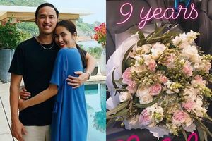 Kỷ niệm 9 năm yêu nhau, ngọc nữ Tăng Thanh Hà chỉ nhận được thứ này từ chồng đại gia